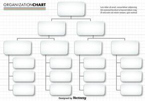 Vektor Einfache Organisation Diagramm