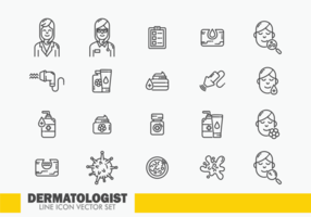 Dermatologie Icons Vektor
