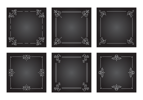 Antiguo Silent Film Frames Vector