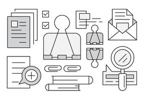 Iconos de Linear Office