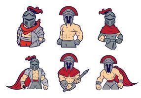 Cavaleiro mascote vetor 01
