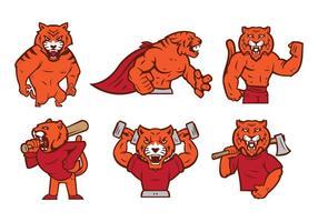 vettore della mascotte della tigre 01