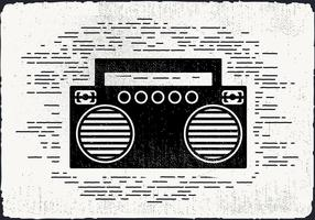 Free Vintage Music Player Vector Illustration