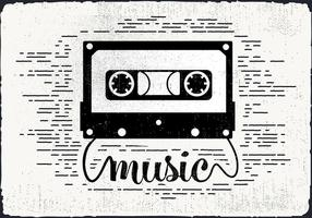 Gratis Vintage Audio Cassette Vector Illustration