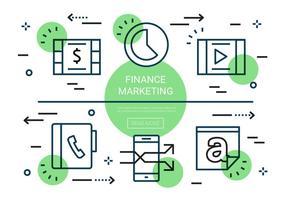 Free Flat Finanzen Vektor Elemente