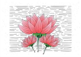 Free Hand Drawn Vector Flower Illustration