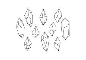 Vetor de linha de forma de cristais livre