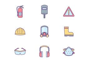 Safety Equipment Icon Pack vector