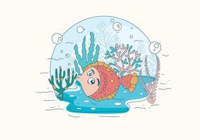 Netter Flounder Vektor