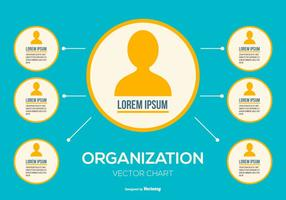 Vector Organizational Chart Illustration