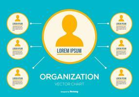 Vector Organizational Chart Illustration