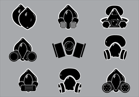 Simple Illustration of Respirator Silhouette Vectors