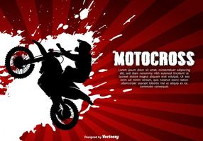 Illustration vectorielle de motocross