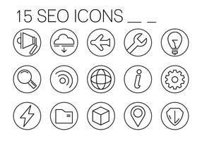 Iconos Lineales Gratuitos de SEO