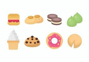 Vetor de doces e cookies grátis