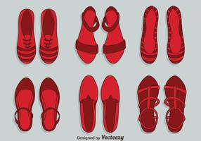 Ruby tofflor kvinna skor vektor