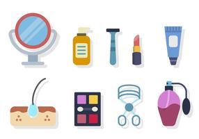 Vecteurs de dermatologie plate