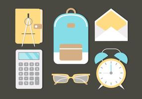 Free Flat Design Vector School Elements