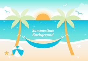 Free Flat Sommer Vektor Hintergrund