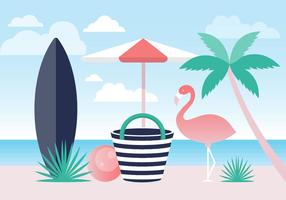 Gratis Kleurrijke Zomer Strand Vector Achtergrond