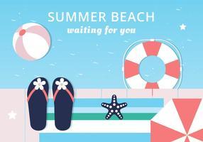 Fundo de vetor de elementos de verão coloridos gratuitos