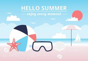 Free Hello Background Vector Verão