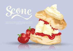 Scone Dessert Vector Illustration