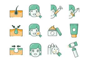 Free Dermatology Icons vector