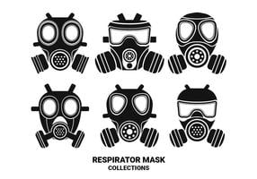 Respirator Silhouette Vector Collections