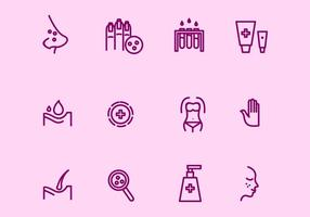 Icônes de dermatologie