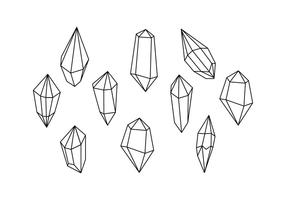 Vecteur de ligne de forme de cristaux libres