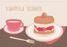 Vektor Hand gezeichnet Scone Illustration