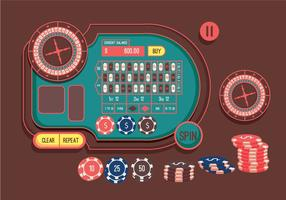 Vector de mesa de ruleta