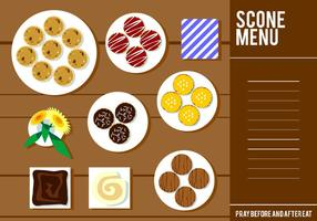 Scone Menu Gratis Vector