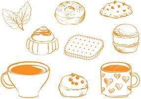 Vectores libres del té de la vendimia