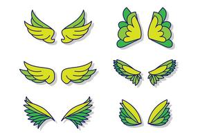 Flat Angel Wings vector