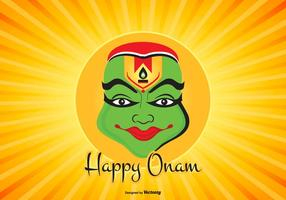 Colorful Happy Onam Illustration