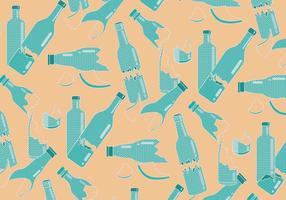 Broken Bottle Pattern Polkadot Vector