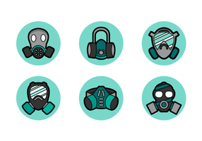 Respirator mask free vector pack