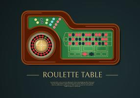 Realistic Roulette Table Vector Illustration