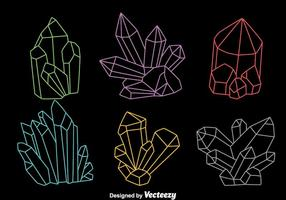 Colorful Line Quartz Vectors