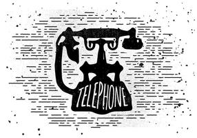 Free Vintage Telephone Vector Illustration
