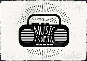 Gratuit Vintage Music Player Illustration Vecteur