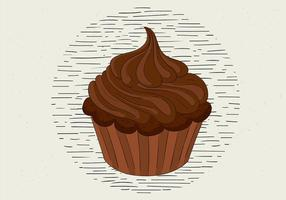 Free Hand Drawn Vector Muffin Illustration
