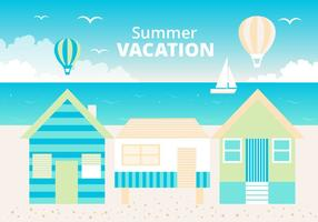 Fondo libre de verano de verano plano