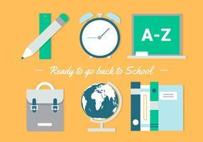Vetor de design plano gratuito de volta aos fundamentos escolares