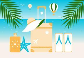 Fundo de vetores de elementos de verão gratuitos