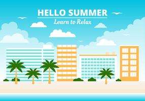 Elementos de verano gratis Vector de fondo