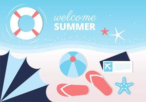 Free Summer Beach Vector Background