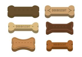 Dog Biscuit Vector set
